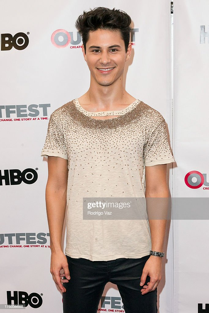 Actor Michael J Willet arrives at the 13th Annual Outfest Opening Night Gala Of 'C.O.G.' at Orpheum Theatre on July 11, 2013 in Los Angeles, California.