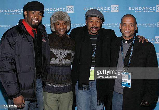 Actor Michael Jai White actor Tommy Davidson actor Robert Townsend and director Scott Sanders attend the premiere of Black Dynamite during the 2009...