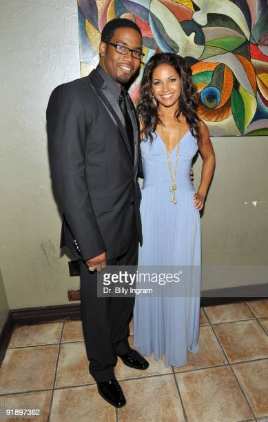 Actor Michael Jai White and actress Salli RichardsonWhitfield attend the after party for the Black Dynamite Los Angeles Premiere at ArcLight...