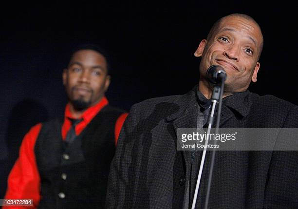 Actor Michael Jai White and director Scott Sanders attend the premiere of Black Dynamite during the 2009 Sundance Film Festival at Library Center...