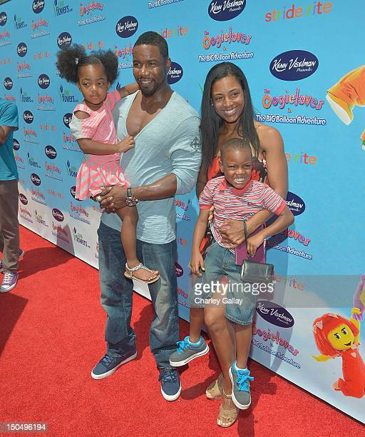Actor Michael Jai White and family arrives at the Los Angeles premiere of 'The Oogieloves In The Big Balloon Adventure' at Grauman's Chinese Theatre...