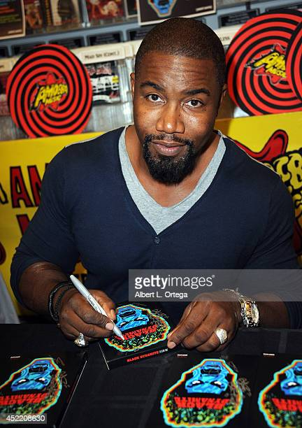 Actor Michael Jai White attends the DVD Signing With Black Dynamite Cast At Amoeba Music held at Amoeba Music on July 15 2014 in Hollywood California