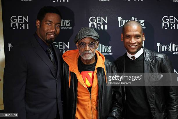 Actor Michael Jai White director Melvin Van Peebles and director Scott Sanders attend the premiere of Black Dynamite hosted by Gen Art at the AMC...