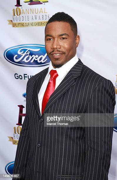 Actor Michael Jai White walks the blue carpet at the 10th Annual Ford Hoodie Awards at MGM Garden Arena on August 4, 2012 in Las Vegas, Nevada.