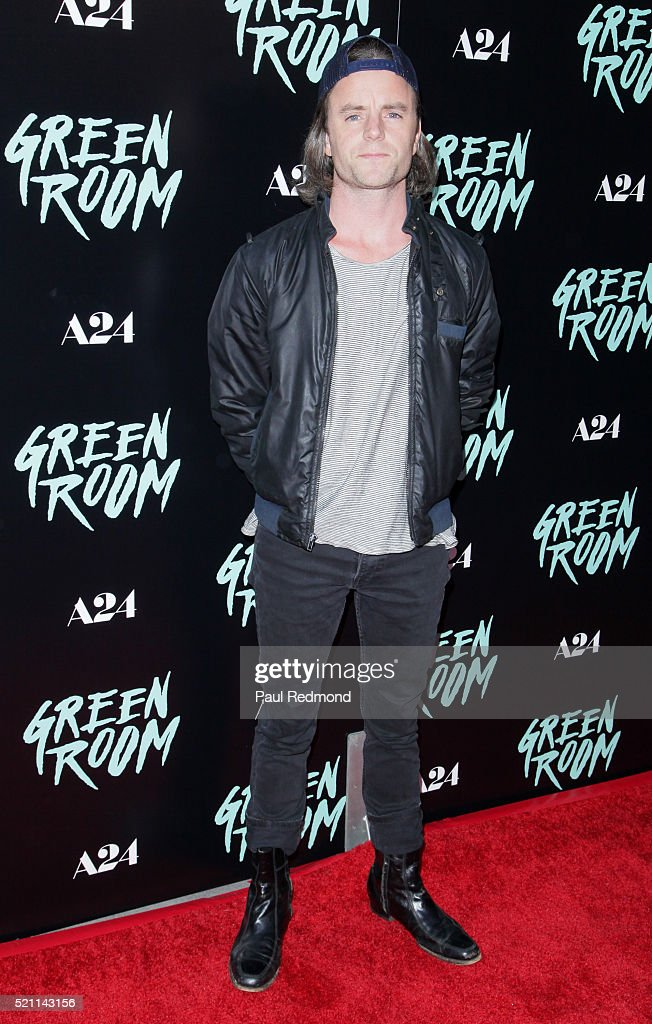 Actor Michael Johnson attends the Premiere of A24's 'Green Room' at ArcLight Hollywood on April 13, 2016 in Hollywood, California.