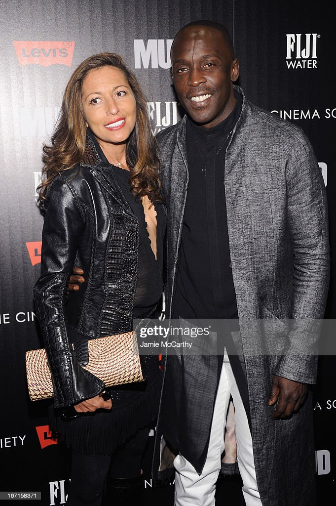 Actor Michael K. Williams (R) and guest attend The Cinema Society With FIJI Water & Levi's screening of 'Mud' at The Museum of Modern Art on April 21, 2013 in New York City.