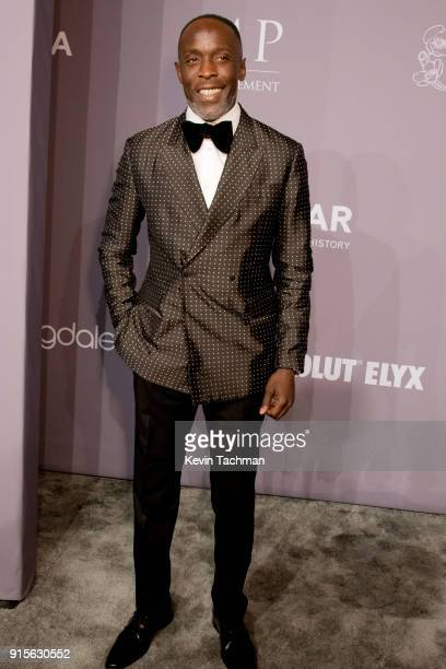 Actor Michael K Williams attends the 2018 amfAR Gala New York at Cipriani Wall Street on February 7 2018 in New York City