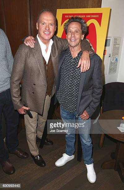 Actor Michael Keaton and producer Brian Grazer attend The Weinstein Company Brian Grazer and Casamigos Tequilas celebration for Michael Keaton at...