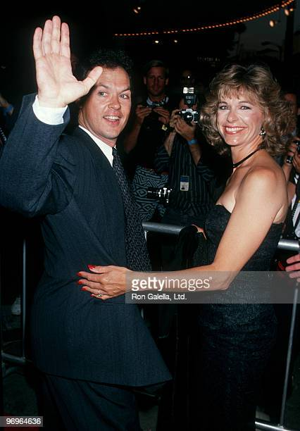 Actor Michael Keaton and wife Caroline McWilliams attending the premiere of Batman on June 19 1989 at Mann Bruin Theater in Westwood California