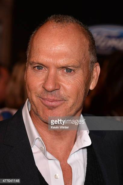 """Actor Michael Keaton arrives at the premiere of DreamWorks Pictures' """"Need For Speed"""" at TCL Chinese Theatre on March 6, 2014 in Hollywood,..."""