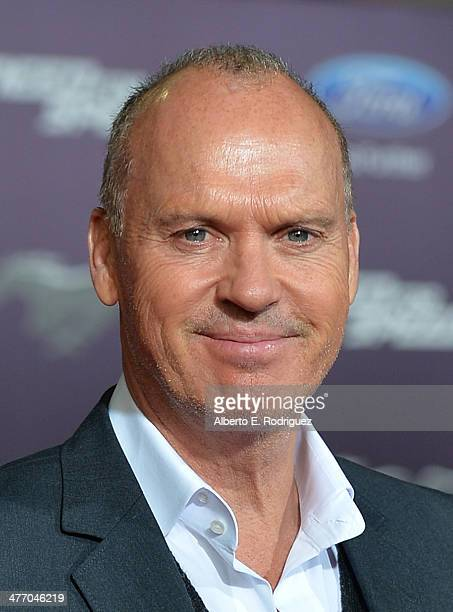 """Actor Michael Keaton arrives for the premiere of DreamWorks Pictures' """"Need For Speed"""" at TCL Chinese Theatre on March 6, 2014 in Hollywood,..."""