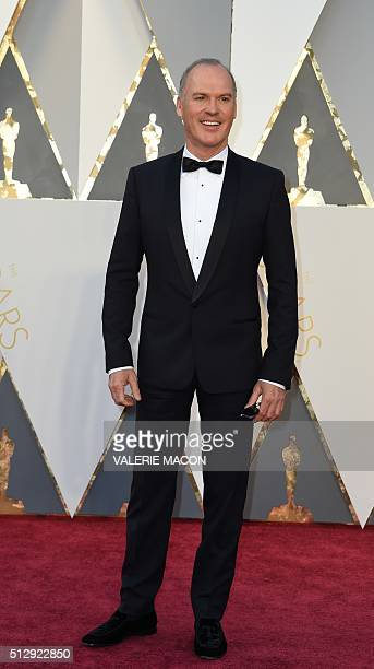 Actor Michael Keaton arrives on the red carpet for the 88th Oscars on February 28 2016 in Hollywood California AFP PHOTO / VALERIE MACON / AFP /...