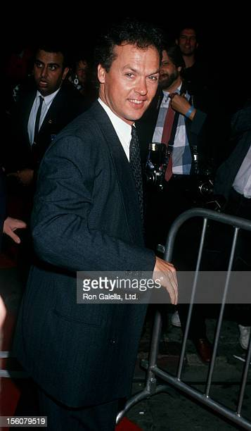 Actor Michael Keaton attending the premiere of 'Batman' on June 19 1989 at Mann Bruin Theater in Westwood California