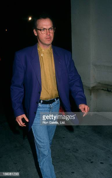 Actor Michael Keaton attending the wrap party for 'Batman Returns' on March 6 1992 at the Mayan Theater in Los Angeles California