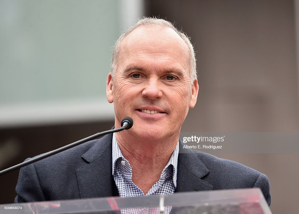 Actor Michael Keaton attends a ceremony honoring Ron Howard with the 2,568th Star on The Hollywood Walk of Fame on December 10, 2015 in Hollywood, California.
