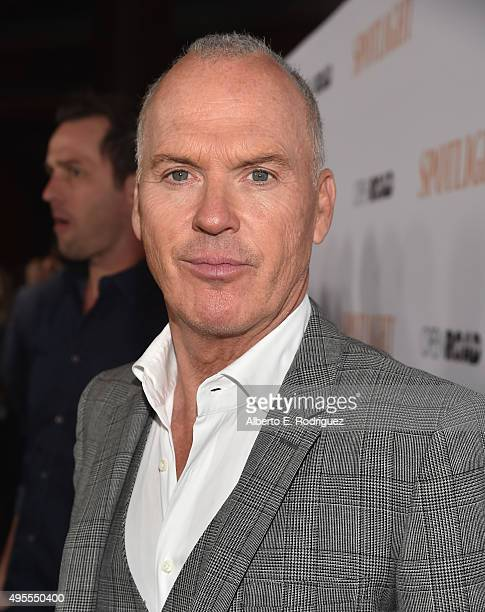 "Actor Michael Keaton attends a special screening of Open Road Films' ""Spotlight"" at The DGA Theater on November 3, 2015 in Los Angeles, California."