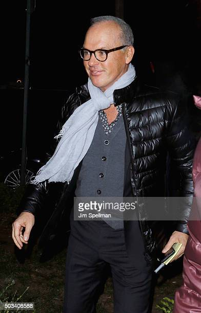 Actor Michael Keaton attends the 2015 New York Film Critics Circle Awards at TAO Downtown on January 4 2016 in New York City