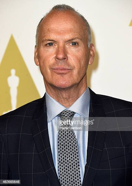 Actor Michael Keaton attends the 87th Annual Academy Awards Nominee Luncheon at The Beverly Hilton Hotel on February 2 2015 in Beverly Hills...