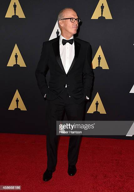 Actor Michael Keaton attends the Academy Of Motion Picture Arts And Sciences' 2014 Governors Awards at The Ray Dolby Ballroom at Hollywood Highland...