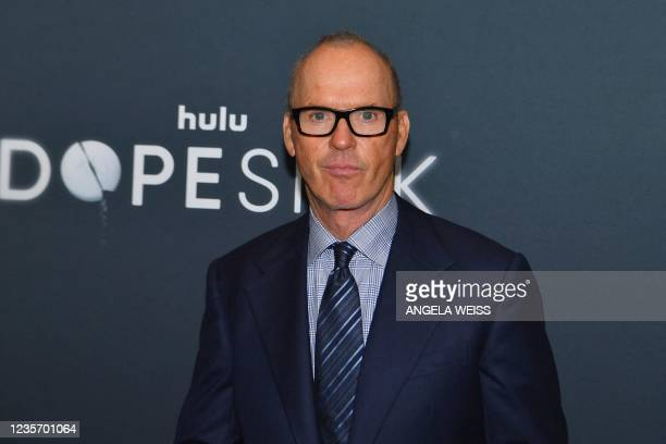 """Actor Michael Keaton attends the Hulu premiere of """"Dopesick"""" at the Museum of Modern Art on October 4, 2021 in New York City. - Before he became..."""