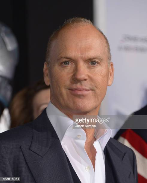 Actor Michael Keaton attends the premiere of Columbia Pictures' Robocop on February 10 2014 in Hollywood California