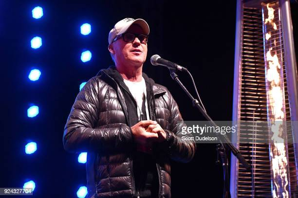 Actor Michael Keaton performs onstage during the One 805 Kick Ash Bash benefiting First Responders at Bella Vista Ranch Polo Club on February 25 2018...