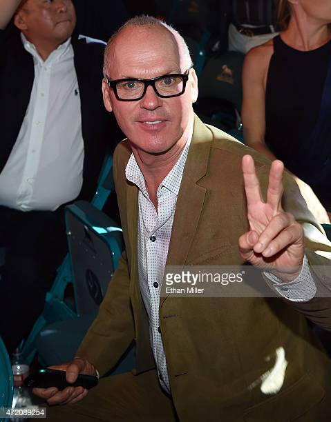 Actor Michael Keaton poses ringside at Mayweather VS Pacquiao presented by SHOWTIME PPV And HBO PPV at MGM Grand Garden Arena on May 2 2015 in Las...