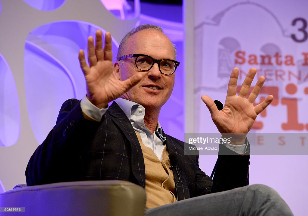 Actor Michael Keaton presents onstage at The Santa Barbara International Film Festival on February 5, 2016 in Santa Barbara, California.