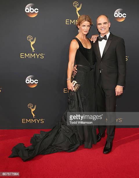 Actor Michael Kelly and Karyn Kelly attend the 68th Annual Primetime Emmy Awards at Microsoft Theater on September 18 2016 in Los Angeles California