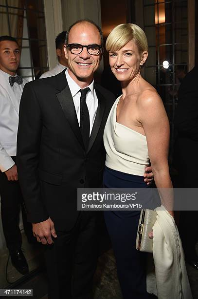 Actor Michael Kelly and Karyn Kelly attend the Bloomberg Vanity Fair cocktail reception following the 2015 WHCA Dinner at the residence of the French...