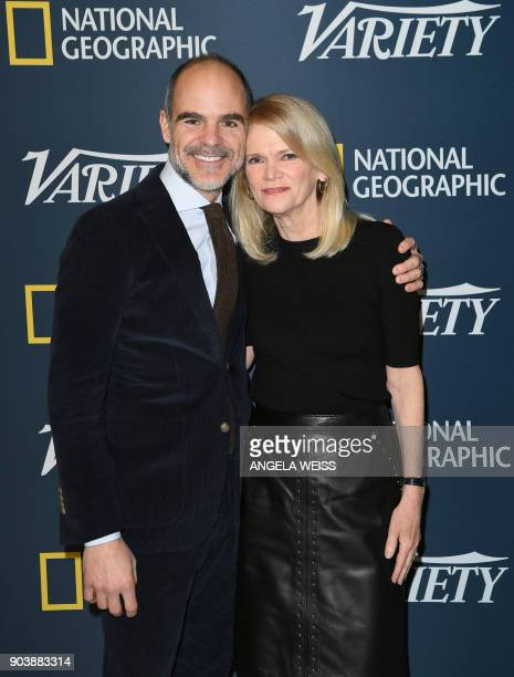 Actor Michael Kelly and Martha Raddatz attend the Variety Presents Salute To Service event on January 11 2018 in New York City / AFP PHOTO / ANGELA...