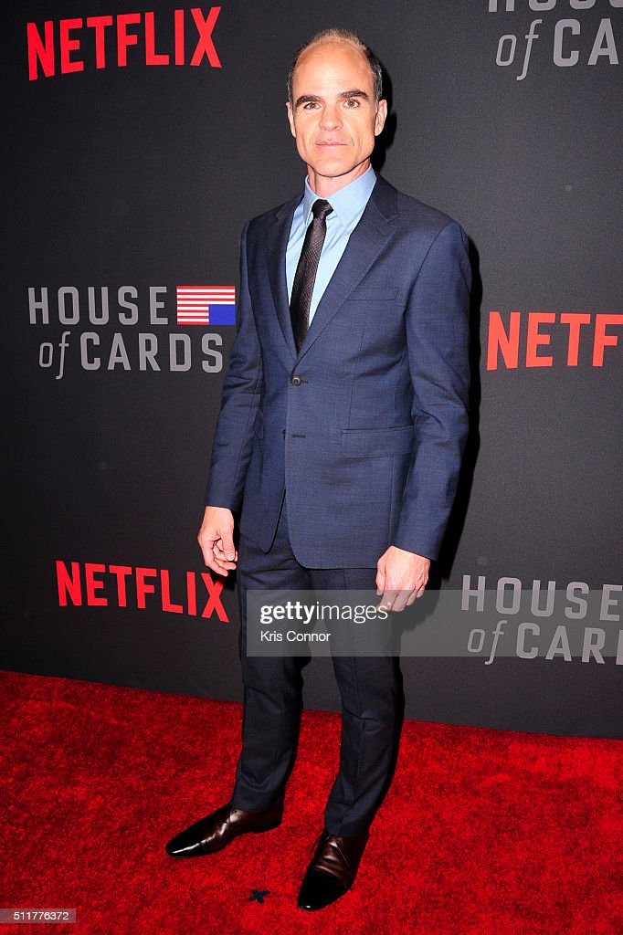 Actor Michael Kelly Attends The U0027House Of Cardsu0027 Season 4 Premiere At The  National