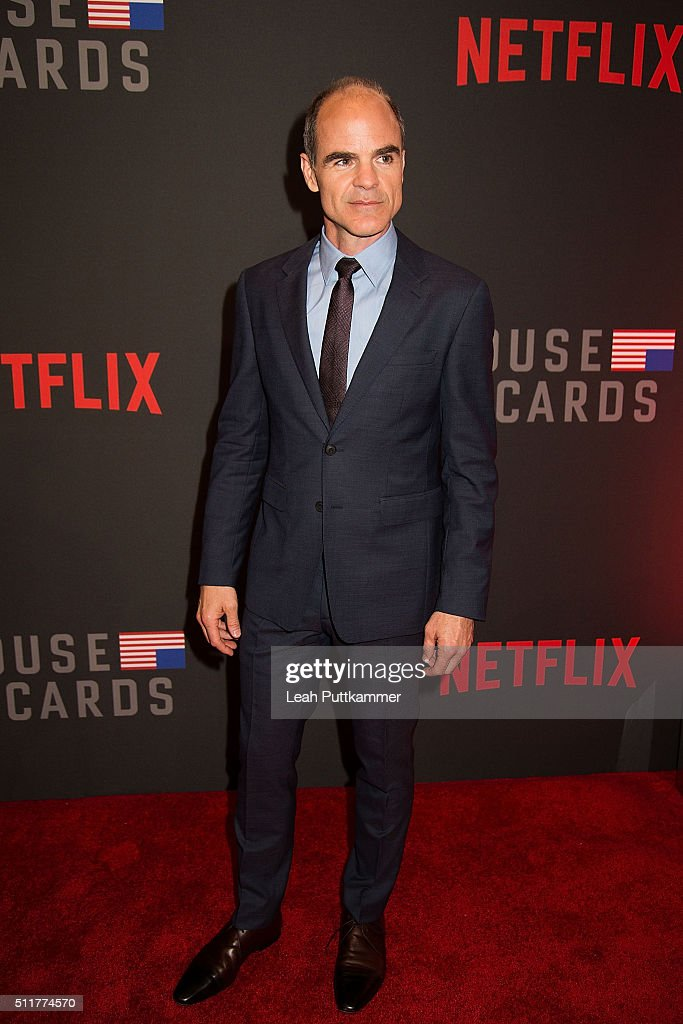 Actor Michael Kelly Attends The Season 4 Premiere Of Netflixu0027s U0027House Of  Cardsu0027 At