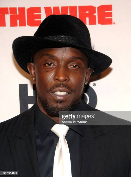Actor Michael Kenneth Williams attends the HBO premiere of The Wire on January 4 2008 in New York City