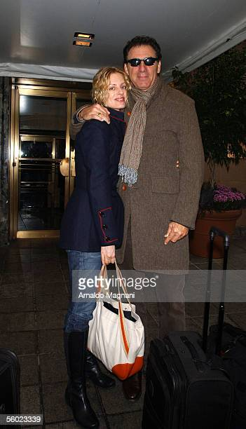 Actor Michael 'Kramer' Richards and companion Beth Skipp exit the Lowel Hotel October 27 2005 in New York City