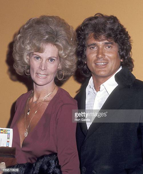 Actor Michael Landon and wife Lynn Noe attend the Hollywood Radio and Television Society's 16th Annual International Broadcasting Awards on March 4...