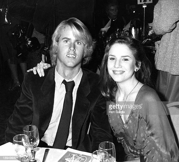 Actor Michael Landon Jr and actress Melissa Gilbert attend Third Annual Media Awards Gala Changing Attitudes on January 22 1981 at the Beverly Hilton...