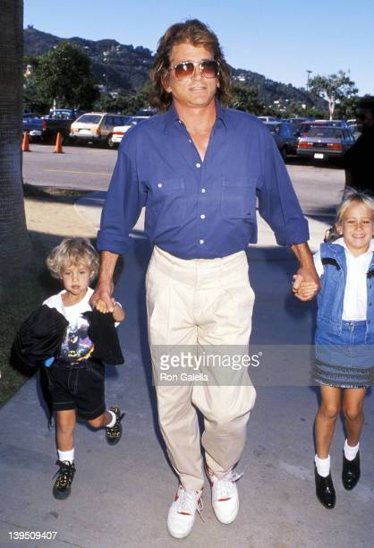 Actor Michael Landon son Sean Landon and daughter Jennifer Landon attend The Wizard Universal City Premiere on December 2 1989 at Cineplex Odeon...