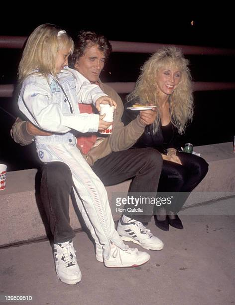 Actor Michael Landon wife Cindy Landon and daughter Jennifer Landon attend the Teenage Mutant Ninja Turtles Coming Out of Their Shells Concert and...