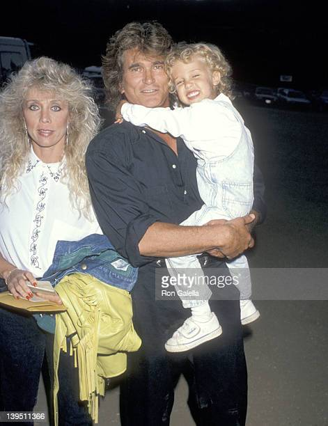 Actor Michael Landon wife Cindy Landon and son Sean Landon attend the Third Annual Moonlight Roundup Extravaganza to Benefit Free Arts for Abused...