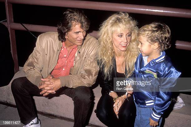 Actor Michael Landon wife Cindy Landon and son Sean Landon attend the Teenage Mutant Ninja Turtles Coming Out of Their Shells Concert and Theatrical...