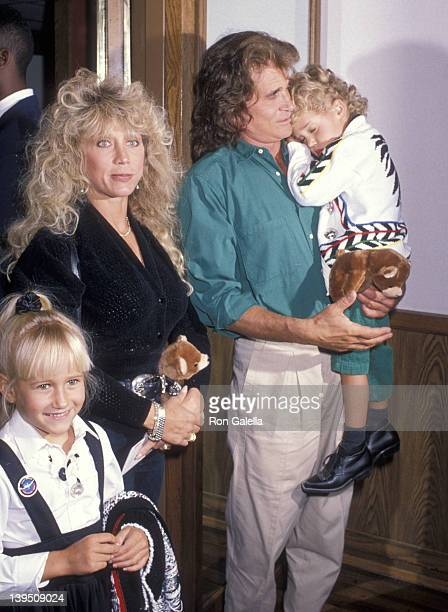 Actor Michael Landon wife Cindy Landon daughter Jennifer Landon and son Sean Landon attend the Moscow Circus Opening Night Performance on March 14...