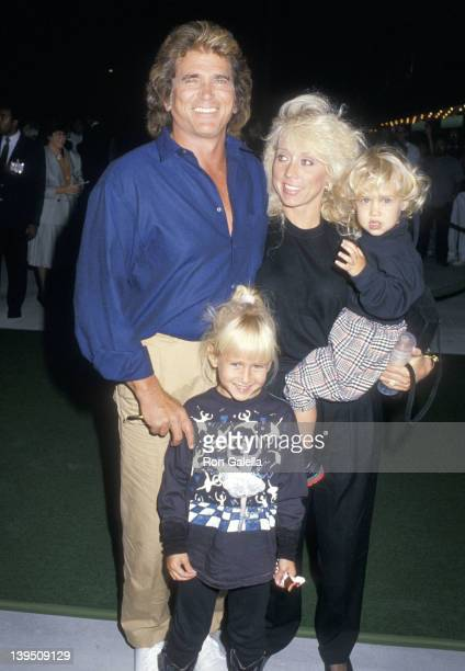 Actor Michael Landon wife Cindy Landon daughter Jennifer Landon and son Sean Landon attend the Gorillas in the Mist The Story of Dian Fossey...