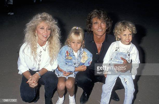 Actor Michael Landon wife Cindy Landon daughter Jennifer Landon and son Sean Landon attend the Third Annual Moonlight Roundup Extravaganza to Benefit...