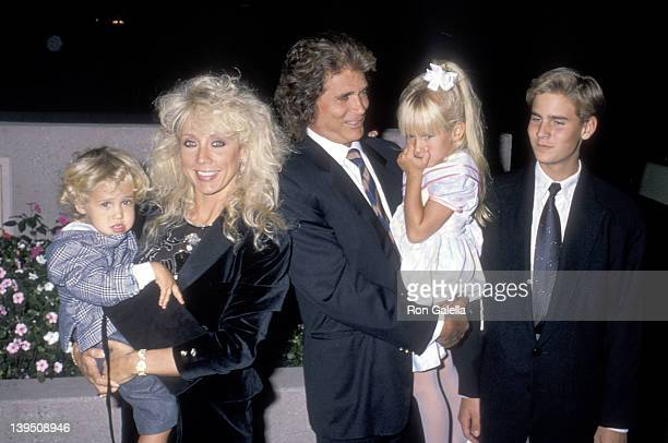 Actor Michael Landon wife Cindy Landon son Sean Landon daughter Jennifer Landon and son Christopher Landon attend the National Down Syndrome...