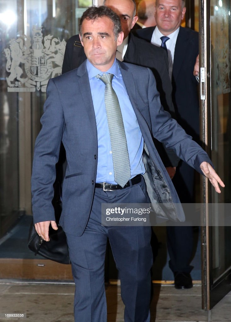 Actor Michael Le Vell, whose real name is Michael Turner, leaves Manchester Crown Court after pleading not guilty to child sex charges on May 17, 2013 in Manchester, England. Le Vell stars in the sopa opera Coronation Street and plays the character Kevin Webster. The alleged offences date between 2001 and 2010 and include six charges of rape, six of indecent assault and seven of sexual touching.