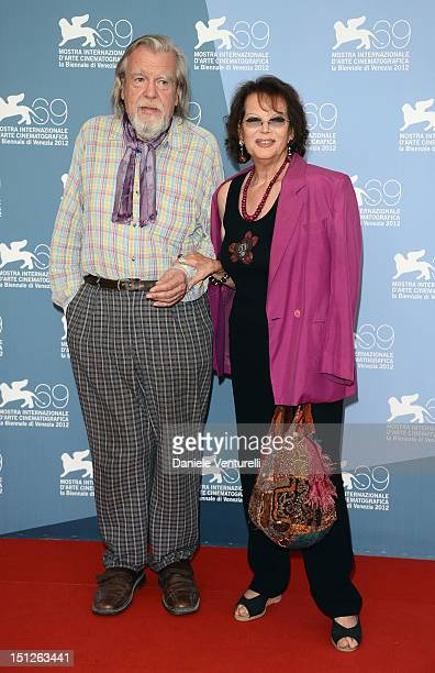 Actor Michael Lonsdale and actress Claudia Cardinale attends O Gebo E A Sombra Photocall during The 69th Venice Film Festival at the Palazzo del...