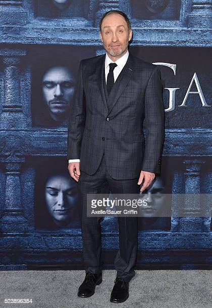 Actor Michael McElhatton arrives at the premiere of HBO's 'Game Of Thrones' Season 6 at TCL Chinese Theatre on April 10 2016 in Hollywood California