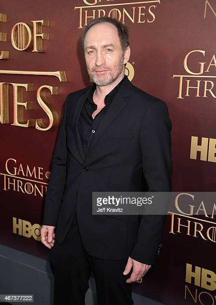 Actor Michael McElhatton attends HBO's 'Game of Thrones' Season 5 Premiere and After Party at the San Francisco Opera House on March 23 2015 in San...