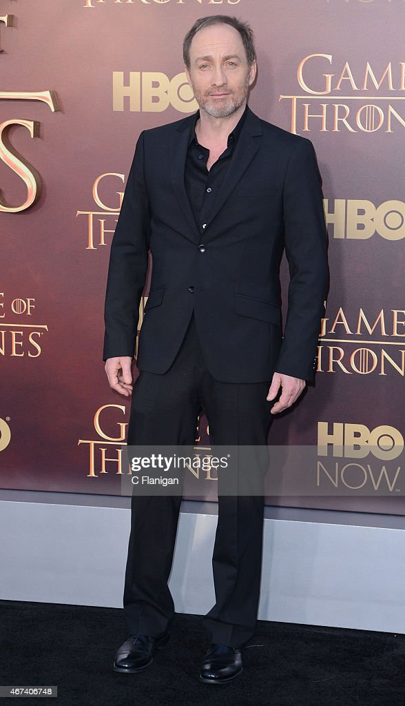 Actor Michael McElhatton attends HBO's 'Game of Thrones' Season 5 Premiere at the San Francisco War Memorial Opera House on March 23, 2015 in San Francisco, California.